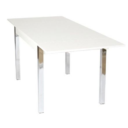 Designer White Extending Dining Table 120cm ext to 187cm